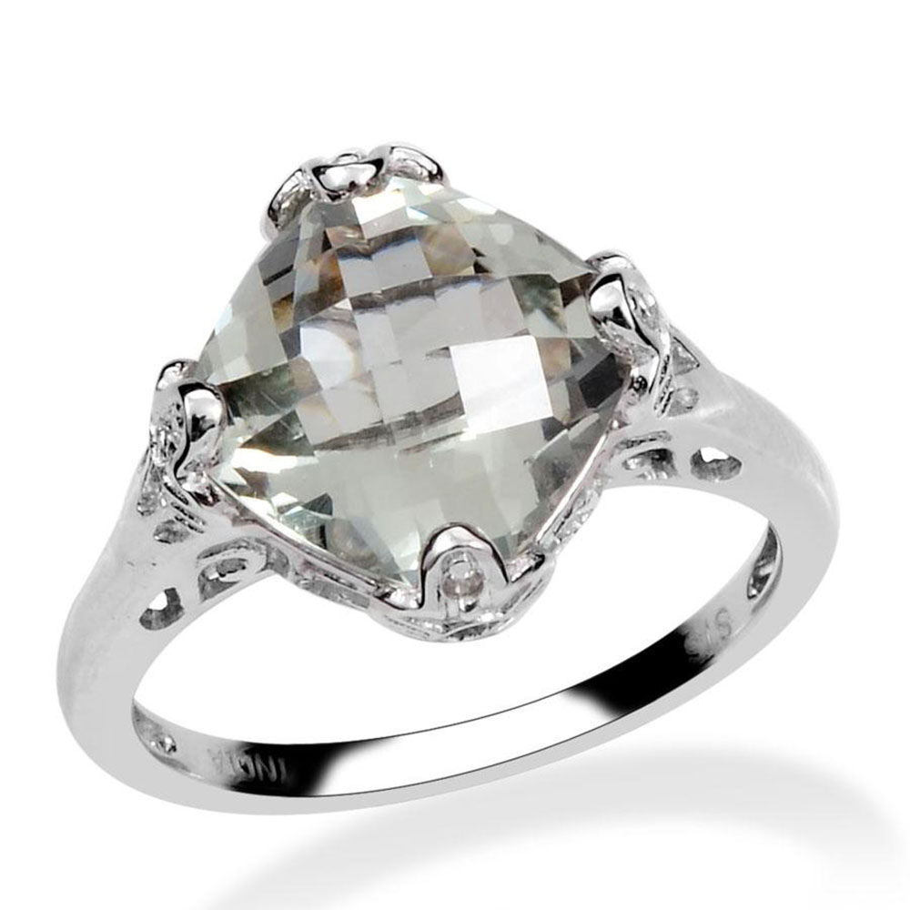 Home d/écor Nice Seller Gift for New Years Day Oval Cut Genuine Gems Round Faceted Green Amethyst Rings 925 Silver Green Green Amethyst Genuine Gems Ring