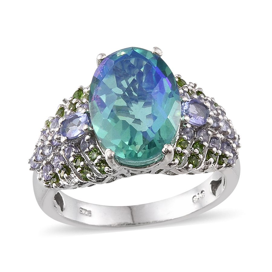 tanzanite m jewelry image sugarloaf ring colored estate cut diamond gemstones cushion untreated carats and s peacock