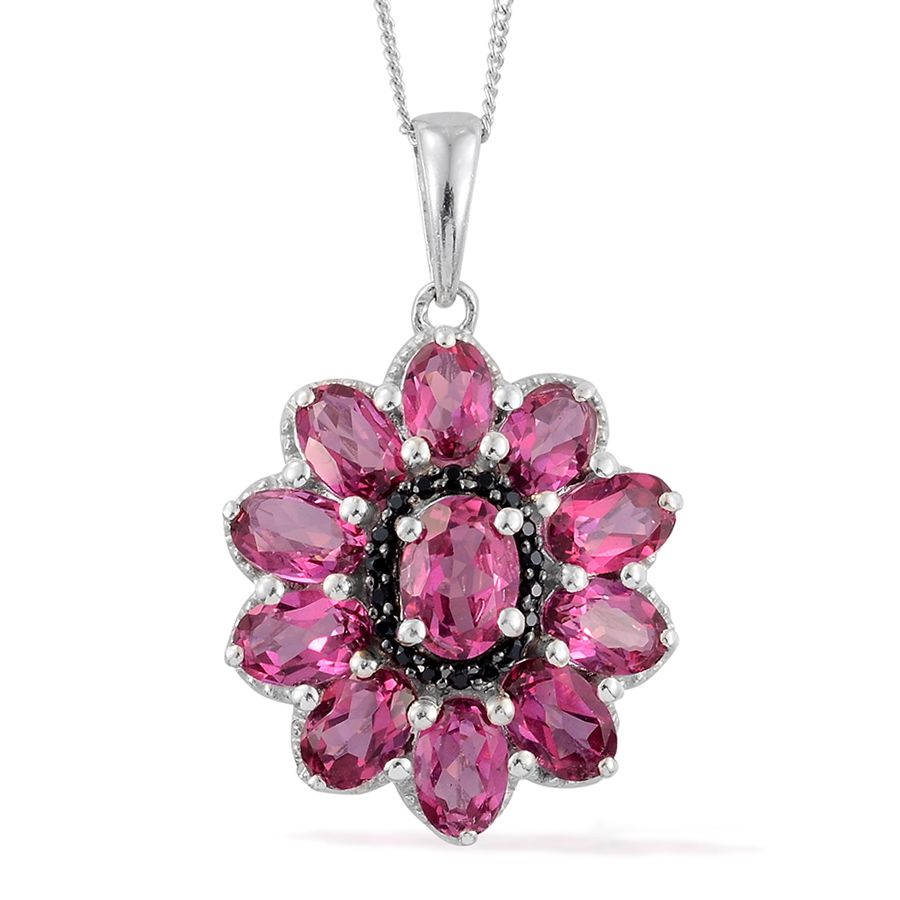 Pure Pink Mystic Topaz, Thai Black Spinel Platinum Over. Blazer Brooch. Platinum Engagement Rings. Turquoise Stone Engagement Rings. High End Bracelet