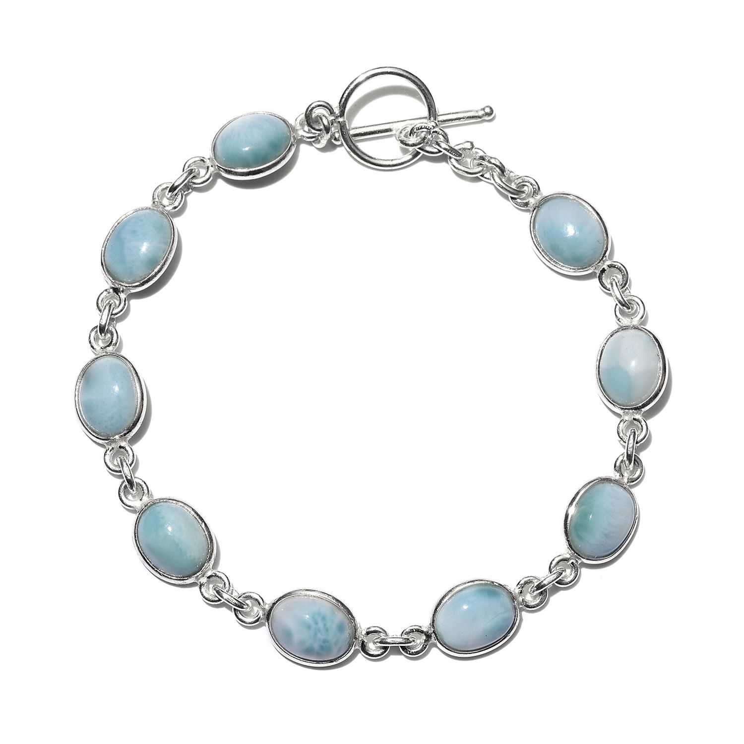 f16c9f174 Artisan Crafted Sea Mist Larimar Sterling Silver Bracelet (7.50 In) TGW  17.80 cts. | Green-Larimar | Promotions | online-store | Shop LC