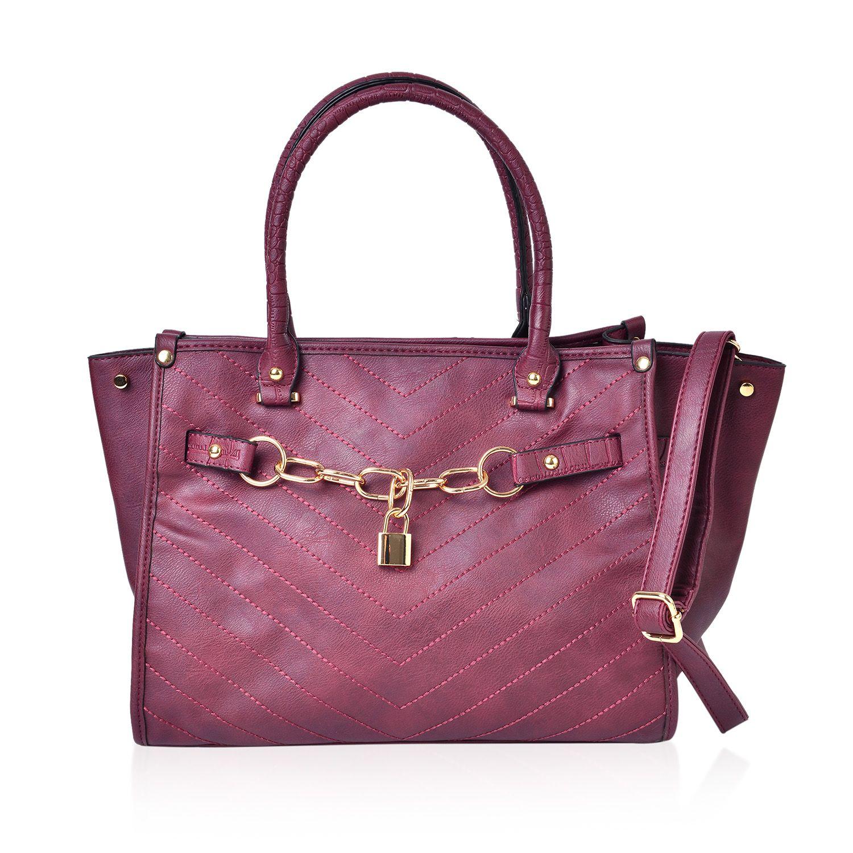 9b3c5faef250 Burgundy Quilted Handbag