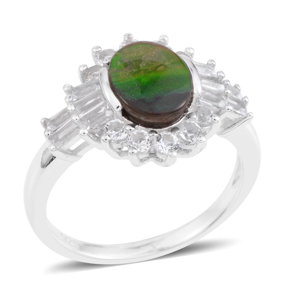 Ammolite Ring Sterling Silver