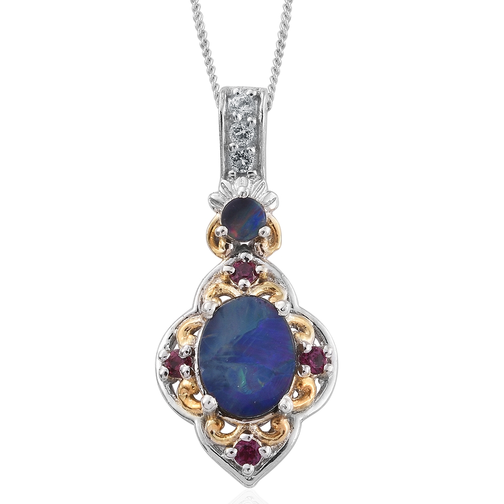 Australian boulder opal orissa rhodolite garnet white for Jewelry stores boulder co