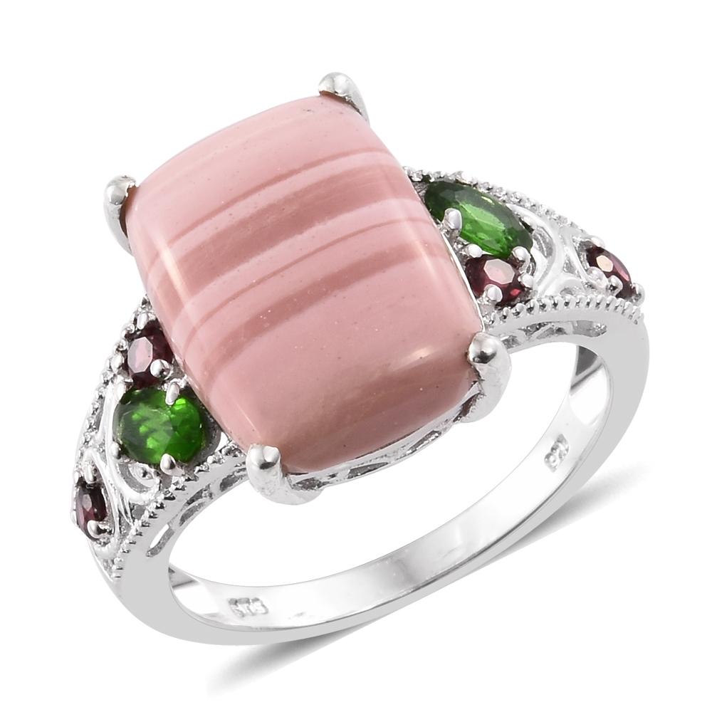 Australian Pink Opal, Russian Diopside, Orissa Rhodolite Garnet ...