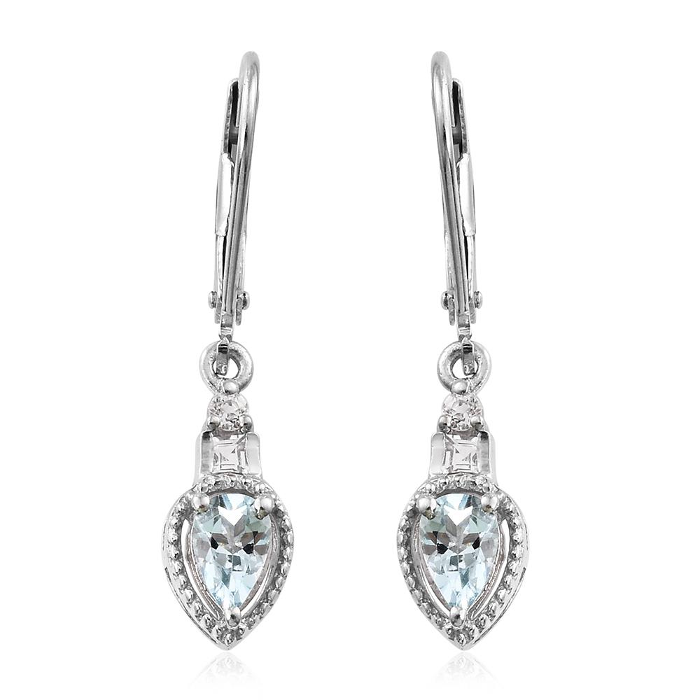 Santa maria aquamarine white topaz platinum over sterling for Santa maria jewelry company