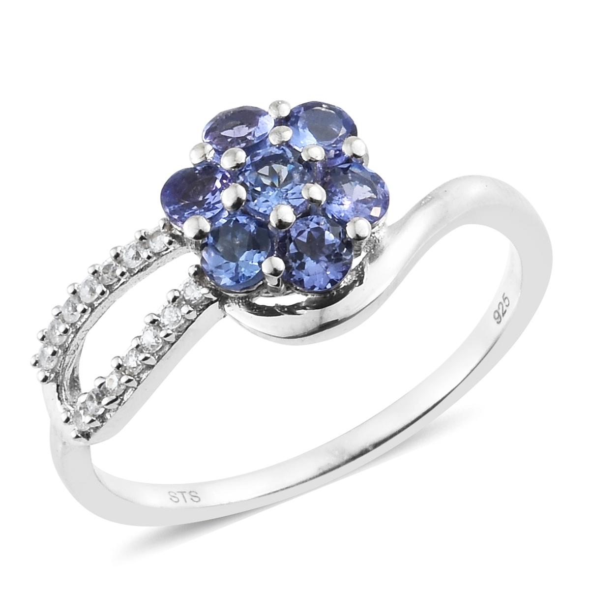 Aaa Tanzanite Silver Rings