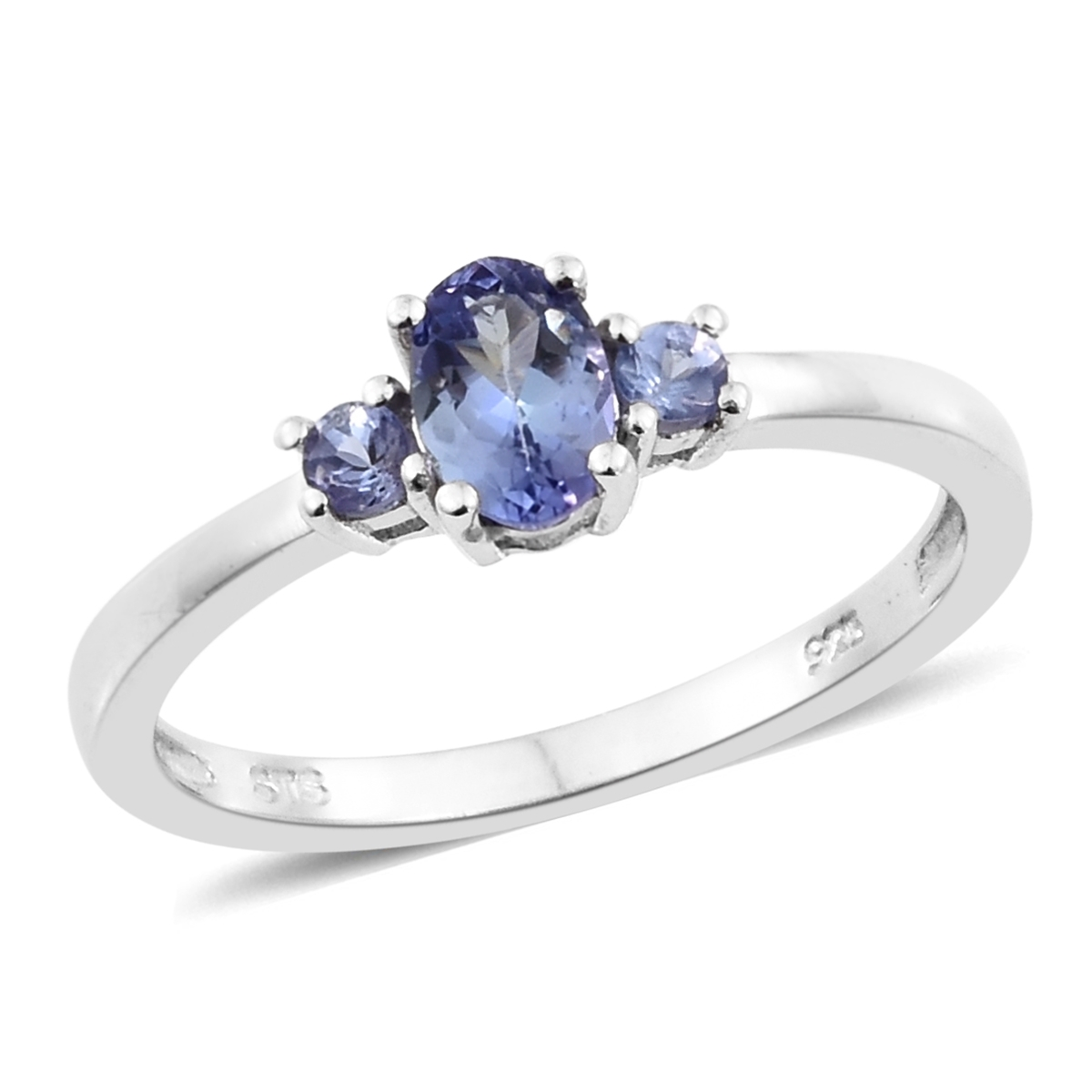 ct tanzanite francarlo product silver designer n round peacock ring