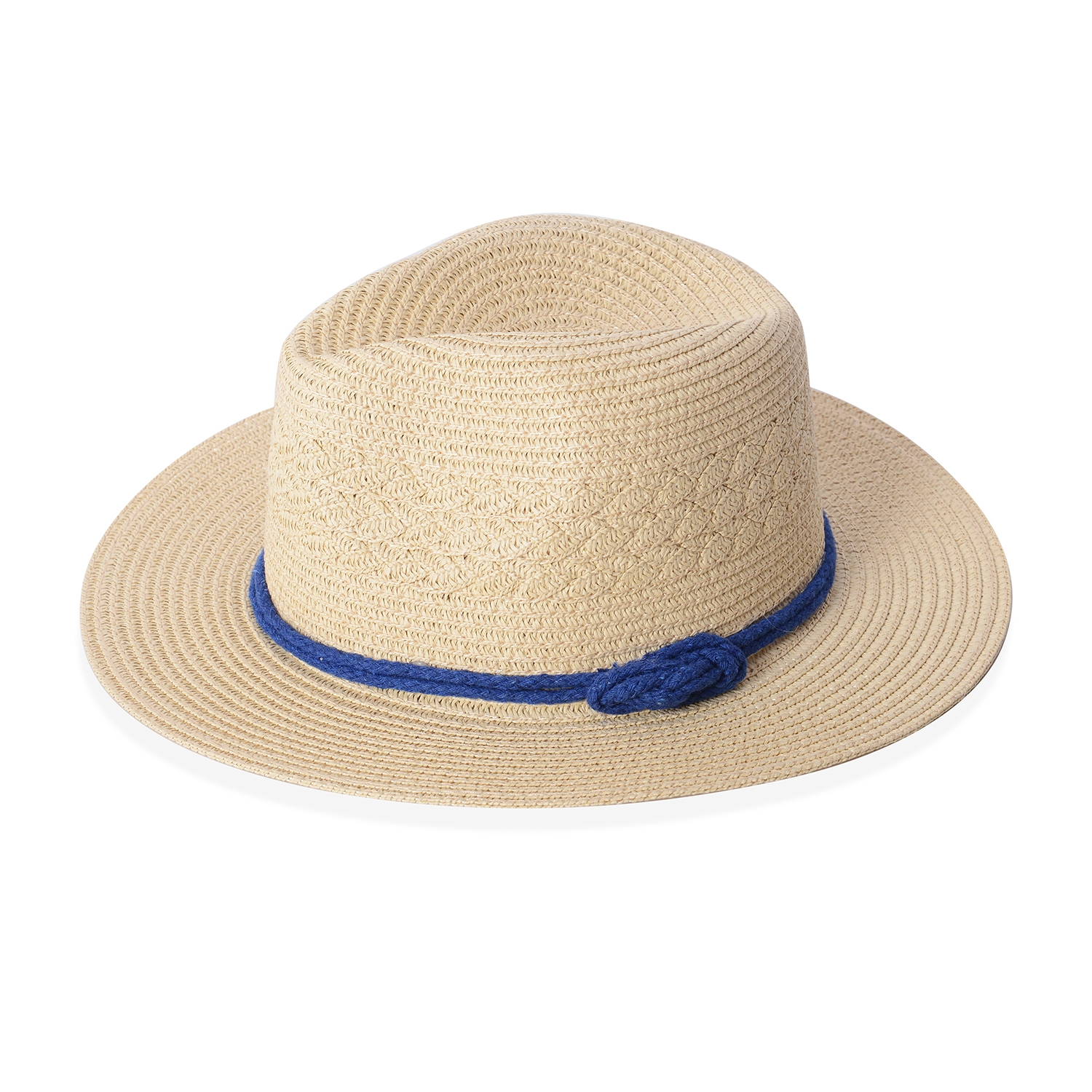 3fbda0f2f33c6 Natural 100% Straw Paper Bow String Fedora Hat (12.5 in)