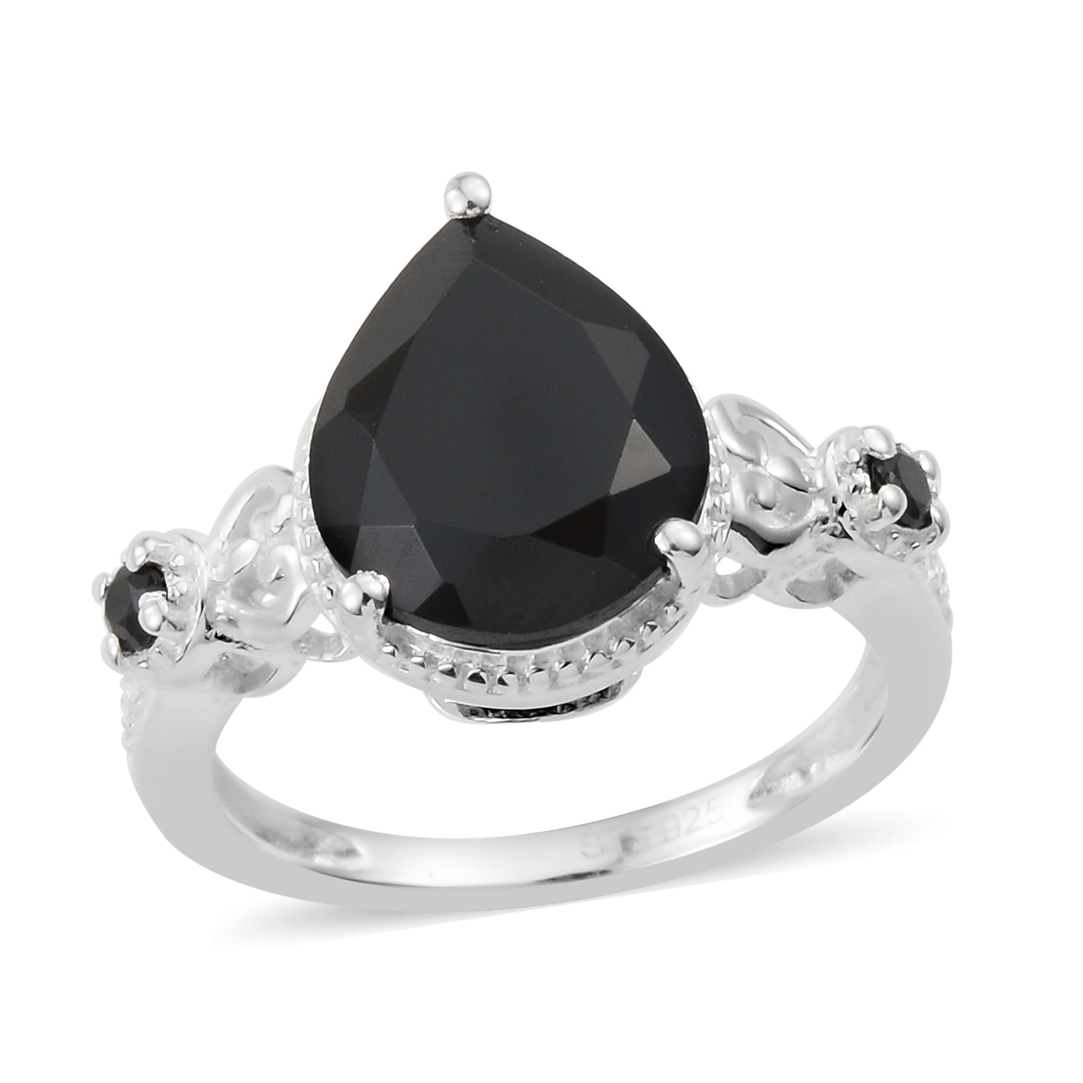 c2ced89ec Thai Black Spinel Sterling Silver Ring (Size 11.0) 4.08 ctw | Fashion |  Rings | Jewelry | online-store | Shop LC