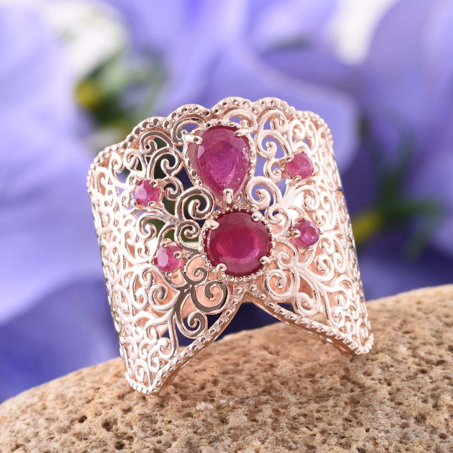 Royal Jaipur Niassa Ruby (Pear 0.90 Ct), Ruby Amber Fort Inspired ...