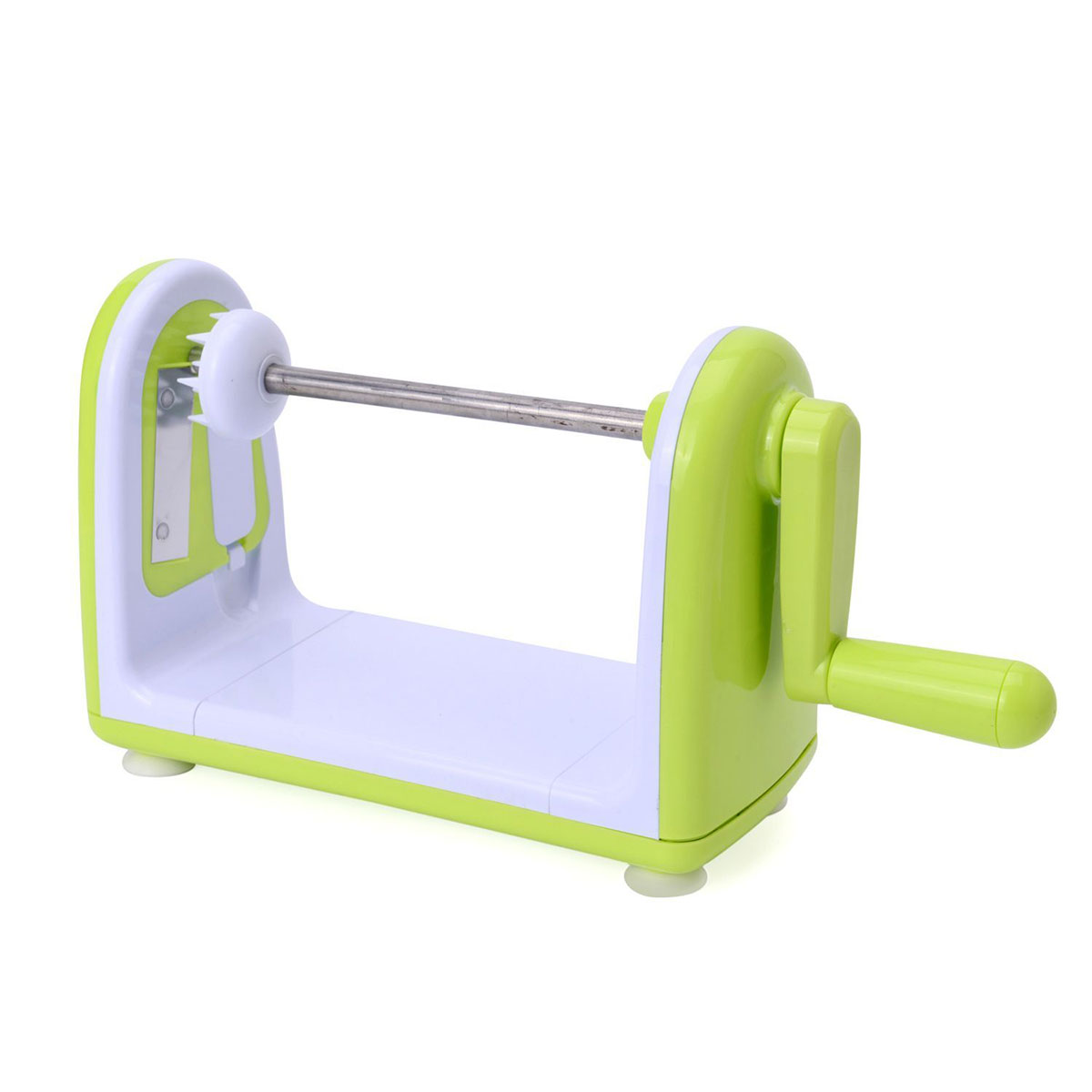 Lime Green 4 Blade Stainless Steel Spiral Fruit or Vegetable-Cutter ...