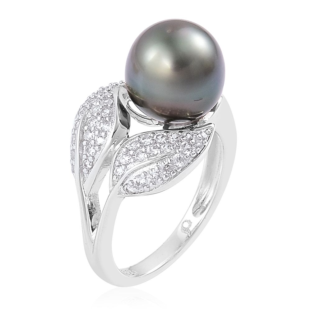 pearl expression tahitian pearl white zircon sterling