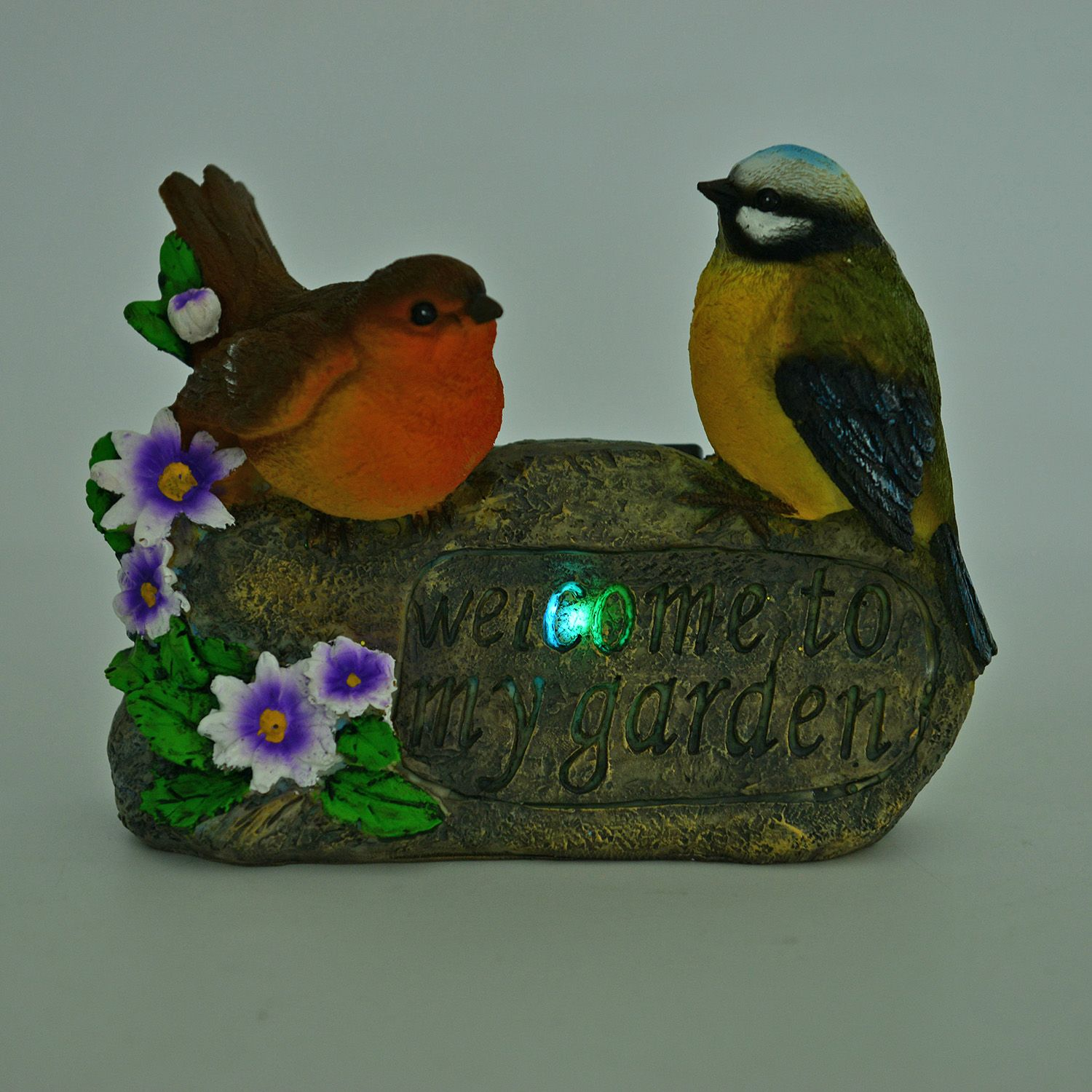 Yellow and orange resin bird couple decoration aaa for Bird decorations for home