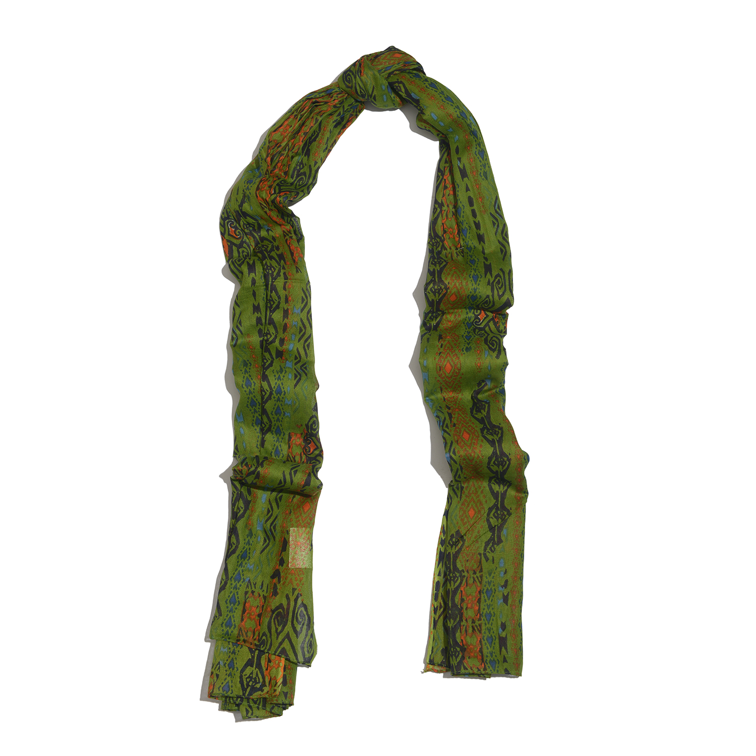 j francis green 100 cotton scarf 70x39 in cotton