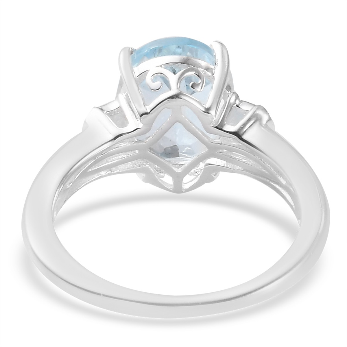 925-Sterling-Silver-Oval-Sky-Blue-Topaz-Solitaire-Promise-Ring-Jewelry thumbnail 5