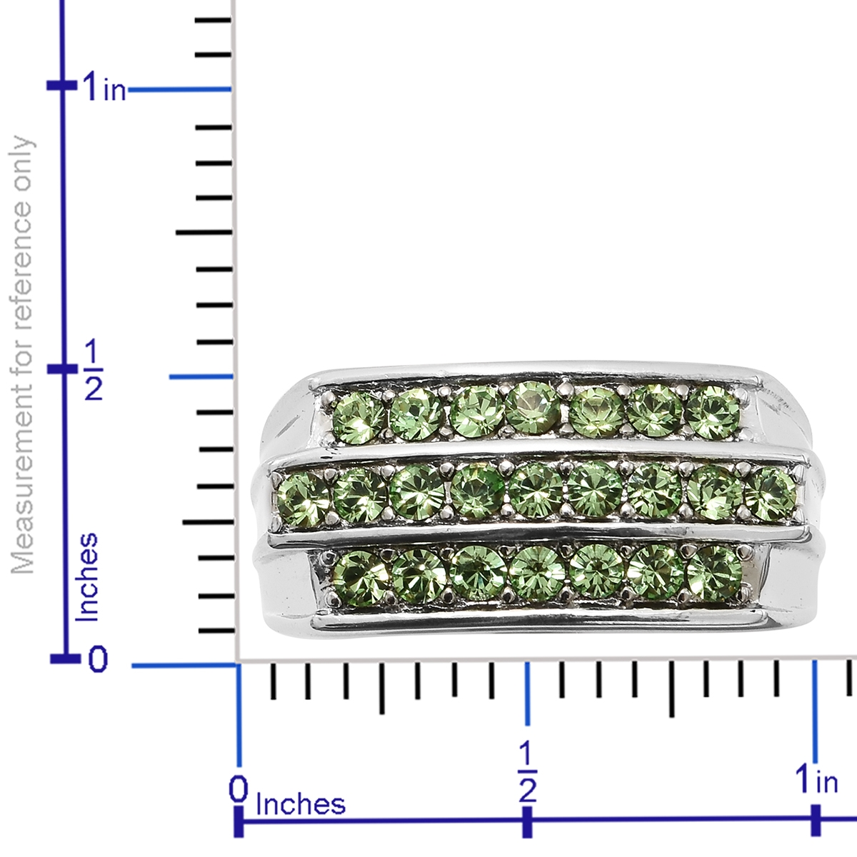9fc818e196ef ... Stainless Steel Men s Ring (Size 9.0) Made with SWAROVSKI Peridot  Crystal ...