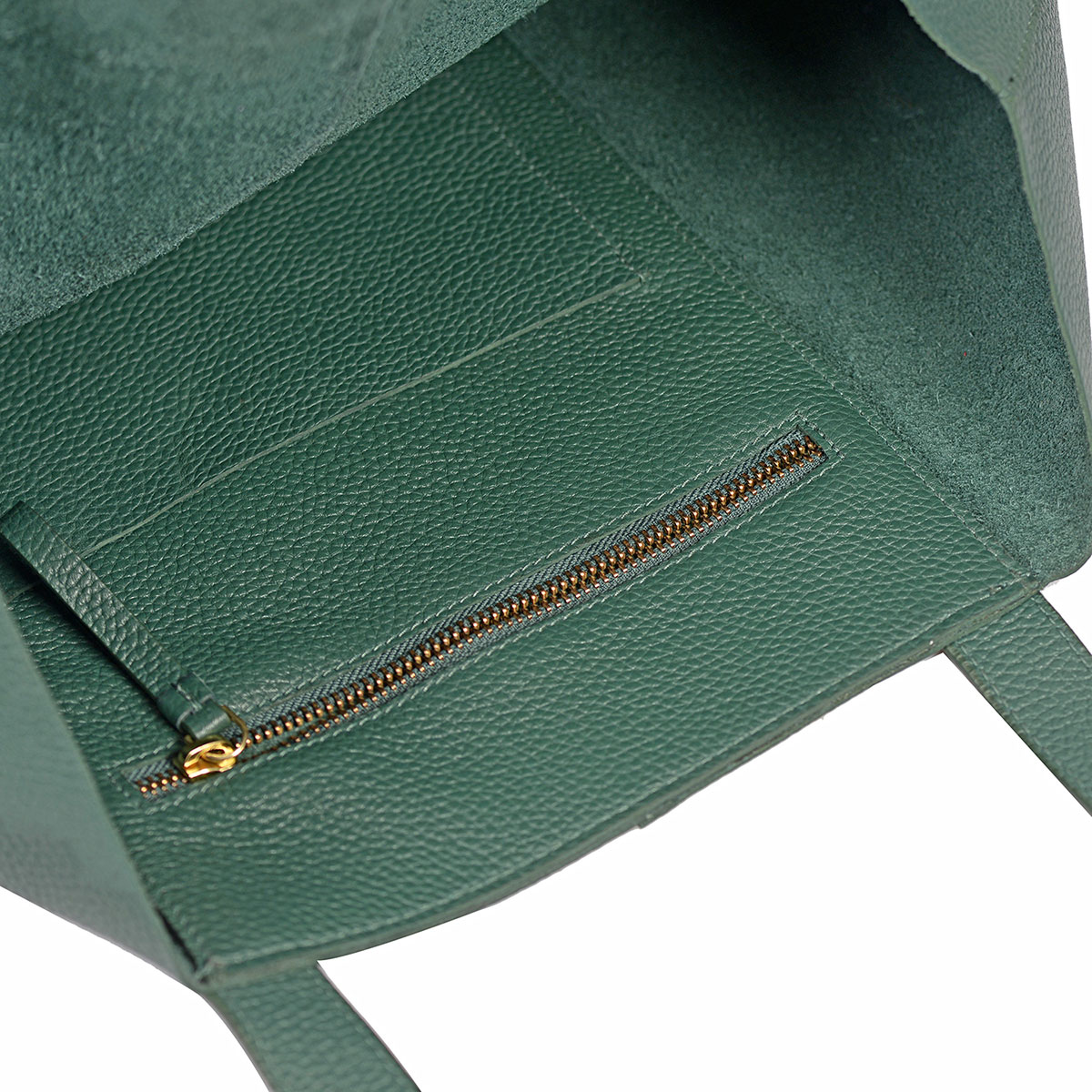 1b84f42212 ... Green Genuine Pebbled Leather Hobo Shoulder Bag with Standing Studs  (18x5x10 in)