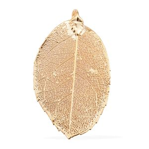 Nature's D'Or Rose Leaf Dipped in 24K YG Pendant without Chain