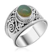 Royal Bali Collection Ethiopian Welo Opal Sterling Silver Ring (Size 7.0) TGW 1.590 cts.