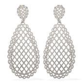Stainless Steel Filigree Dangle Earrings