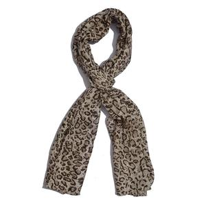 J Francis Collection - Cheetah Print Scarf - 100% Rayon (70x20 in)
