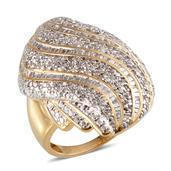 Diamond 14K YG Over Sterling Silver Ring (Size 7.0) TDiaWt 1.00 cts, TGW 1.000 cts.