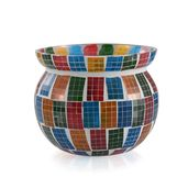 Multi Color Mosaic Decorative Jar (3.5 in)