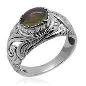 Bali Legacy Collection Ethiopian Welo Opal Sterling Silver Ring (Size 5.0) TGW 0.770 cts.