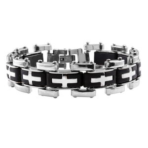 Black Chroma Stainless Steel Bracelet (8.50 In)