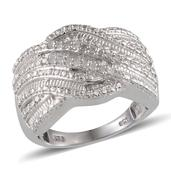 Diamond Platinum Over Sterling Silver Ring (Size 6) TDiaWt 0.33 cts, TGW 0.330 cts.