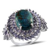 Table Mountain Shadowkite, Catalina Iolite Platinum Over Sterling Silver Ring (Size 8.0) TGW 17.600 cts.