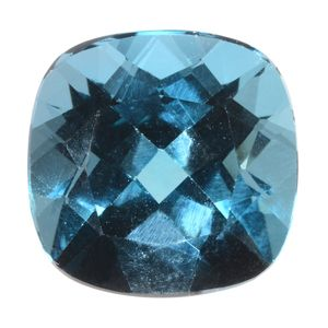 EXOTIC COLLECTION : London Blue Topaz (Cush 15x15 mm) TGW 15.60 cts.