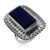 Bali Legacy Collection Lapis Lazuli (Bgt) Ring in Sterling Silver Nickel Free (Size 6) TGW 10.710 cts.