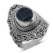 Bali Legacy Collection Rough Cut Tanzanite Sterling Silver Ring (Size 10.0) TGW 4.400 cts.