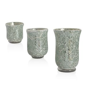 Set of 3 Glass Vases