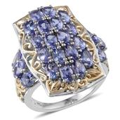 Jewel Studio by Prachi Tanzanite 14K YG and Platinum Over Sterling Silver Ring (Size 7.0) TGW 5.520 cts.
