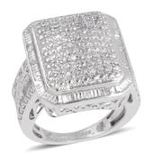 Diamond Sterling Silver Ring (Size 5.5) TDiaWt 0.50 cts, TGW 0.500 cts.