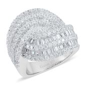 ELANZA Simulated White Diamond Ring in Sterling Silver Nickel Free (Size 7) TGW 5.500 cts.