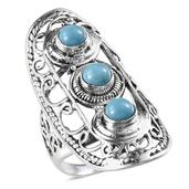 Arizona Sleeping Beauty Turquoise Sterling Silver Ring (Size 6.0) TGW 2.950 cts.