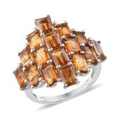 Santa Ana Madeira Citrine Platinum Over Sterling Silver Ring (Size 7) TGW 7.850 cts.