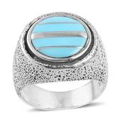 Santa Fe Style Turquoise Sterling Silver Ring (Size 10.5) TGW 1.150 cts.