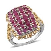 Niassa Ruby 14K YG and Platinum Over Sterling Silver Fancy Filigree Ring (Size 8.0) TGW 4.720 cts.