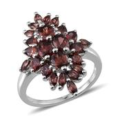 Umba River Zircon Platinum Over Sterling Silver Ring (Size 9.0) TGW 5.800 cts.
