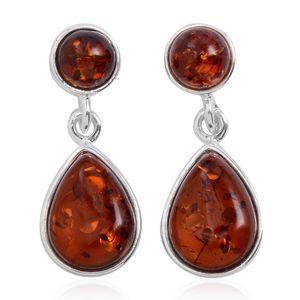 Baltic Cognac Amber Sterling Silver Earrings
