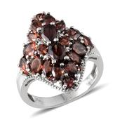 Umba River Zircon, Mocha Zircon, Mozambique Garnet Platinum Over Sterling Silver Ring (Size 9.0) TGW 8.255 cts.