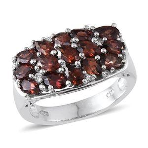 Umba River Zircon, Mocha Zircon, White Topaz Platinum Over Sterling Silver Ring (Size 6.0) TGW 5.330 cts.