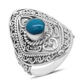 Bali Legacy Collection Arizona Sleeping Beauty Turquoise Sterling Silver Ring (Size 7.0) TGW 1.390 cts.