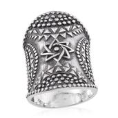 Tribal Collection of India Sterling Silver Elongated Ring (Size 8.0)