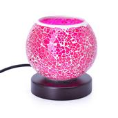 Mosaic Lamp with Natural Himalayan Crystal Salt Rocks (Purple)
