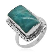 Bali Legacy Collection Larimar Sterling Silver Ring (Size 5.0) TGW 14.610 cts.